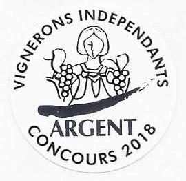 Concours des Vignerons indépendants 2018 : Médaille d'argent