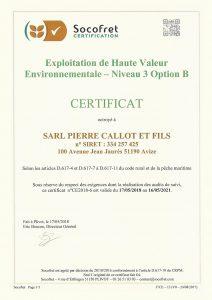 Certificat H.V.E.